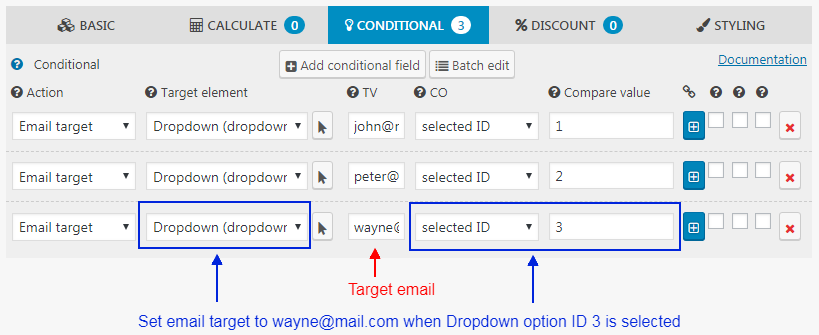 Conditional WordPress Form Email Recipients
