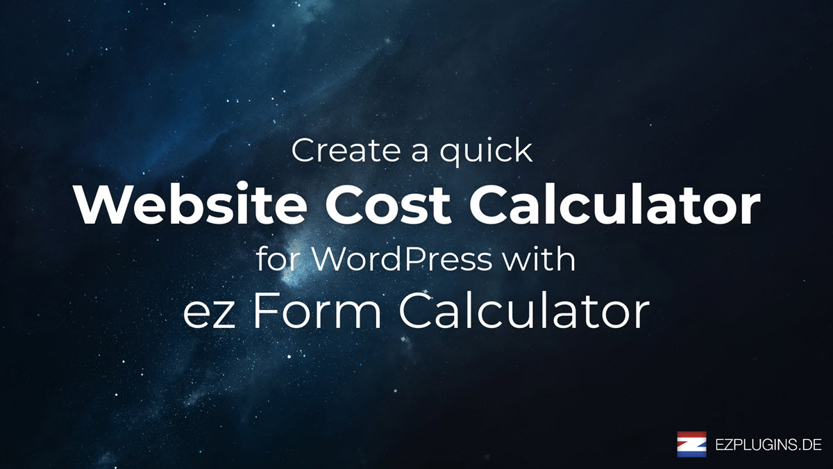 Create a Website Cost Calculator in WordPress